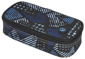 Studentský penál CASE MONO 7 C BLUE/GREY/BLACK