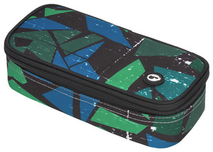 Studentský penál CASE MONO 7 D GREEN/BLUE/BLACK