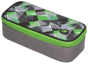 Studentský penál CASE THEORY 7 B GREEN/GREY/WHITE