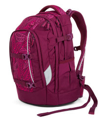Studentský batoh Ergobag Satch Pack - Purple Leaves