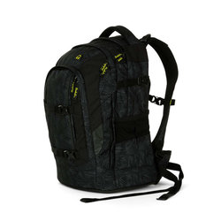 Studentský batoh Ergobag Satch Pack - Black Bermuda