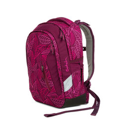 Studentský batoh Ergobag Satch Sleek - Purple Leaves